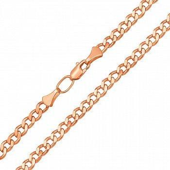 Цепь из красного золота с алмазной гранью 3 мм 000132689