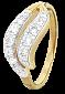 Кольцо из серебра с позолотой и фианитами Монкут 000025642