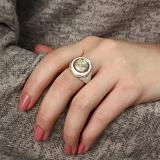 Серебряное кольцо Барбара со светлым опалом и цирконием