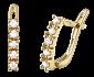 Позолоченные серебряные серьги с цирконием Эфрат SLX--С3Ф/007