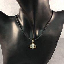 Серебряная ладанка Великомученица Наталия с лимонной позолотой и чернением