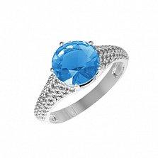 Серебряное кольцо Эмили с кварцем танзанит и фианитами