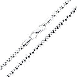 Серебряный браслет в плетении снейк 000115202