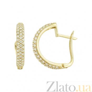 Золотые серьги с бриллиантами Кортни 1С033-0674