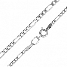 Серебряная цепочка Блейн в плетении Картье, 2мм