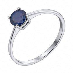 Серебряное кольцо с сапфиром 000133809