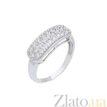 Кольцо серебряное с дорожкой AQA--71580б
