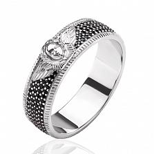 Обручальное кольцо Счастливые ангелы с бриллиантами