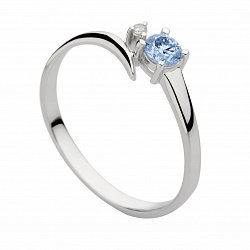 Кольцо из белого золота с бриллиантами Эмелин