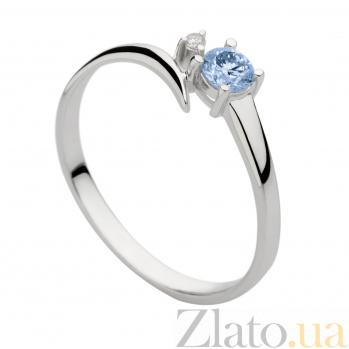 Кольцо из белого золота с бриллиантами Эмелин 000030476