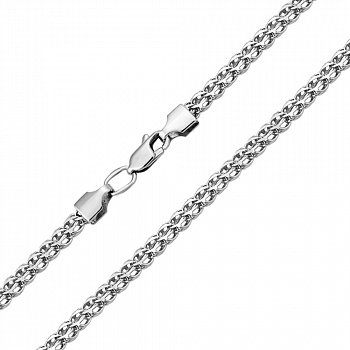 Серебряная цепь в плетении королевский бисмарк 000118005