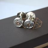Серебряные запонки с позолотой 45 Colt