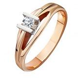 Золотое кольцо с бриллиантом Страстное желание