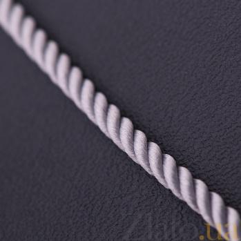 Шелковый шнурок Мато с серебряной застежкой-карабином 000045892