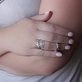 Кольца на две фаланги из белого золота с бриллиантами Пальмира