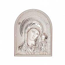 Казанская серебряная икона Божьей Матери
