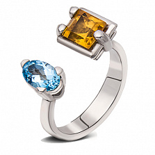 Серебряное кольцо Яркое лето