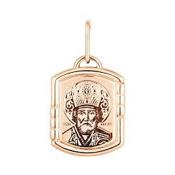 Ладанка из красного золота Николай Чудотворец 000133635