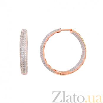 Серебряные серьги с позолотой Конго AQA-SK-FC030-EE