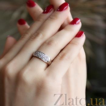 Золотое кольцо с бриллиантами Джессика R 0298/бел