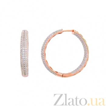 Серебряные серьги с позолотой Конго AQA--SK-FC030-EE