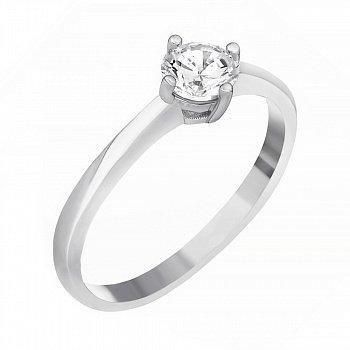 Серебряное кольцо с цирконием SWAROVSKI 000039542