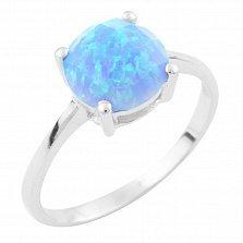 Серебряное кольцо Хельга с опалом