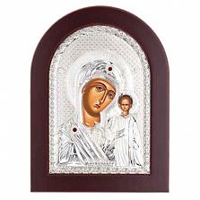 Казанская икона Божьей Матери серебряная