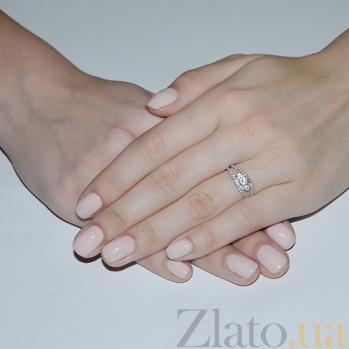 Серебряное кольцо с фианитами принцесса Елизавета HUF--14616-Р