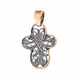 Серебряный крест с позолотой и чернением Мир