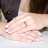 Золотое обручальное кольцо Путь счастья