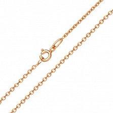 Золотая цепочка Якорка в красном цвете, 1,5мм
