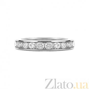 Золотое кольцо с белыми сапфирами Невинность 000029688