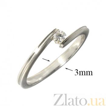 Золотое кольцо Лалида с бриллиантом 000019693