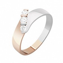 Золотое кольцо с бриллиантами Эвжени