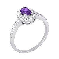 Серебряное кольцо с фианитами Арлетта