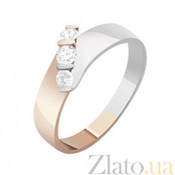 Золотое кольцо с бриллиантами Эвжени KBL--К1085/комб/брил