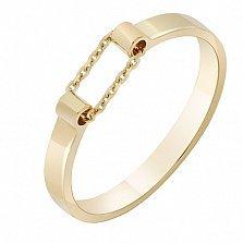 Кольцо из желтого золота Ускорение