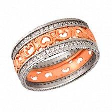 Золотое обручальное кольцо Узоры