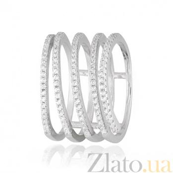 Серебряное кольцо с фианитами Вихрь 000028102