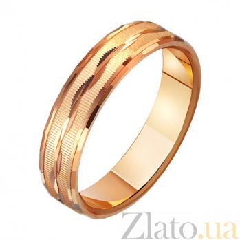 Золотое обручальное кольцо Волны любви TRF--411049