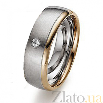 Золотое обручальное кольцо с фианитом Зов сердца TRF--4421047