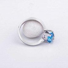 Золотое кольцо Саманта с топазом и бриллиантами