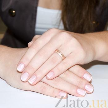 Обручальное кольцо из красного золота Шарм 10135/zv