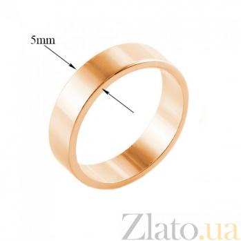 Золотое обручальное кольцо Американская модель в красном цвете 000000377