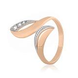 Позолоченное серебряное кольцо с фианитами Оливия