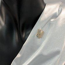 Серебряная шпилька Герб Украины с золотой накладкой