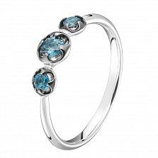 Золотое кольцо Нежное трио с топазами лондон