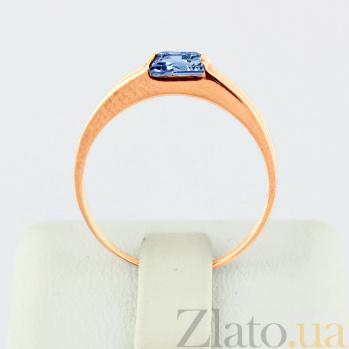 Золотое кольцо с голубым топазом Аделина VLN--112-186-1