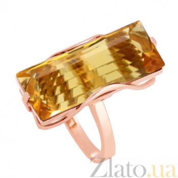Кольцо из красного золота с цитрином Хищница VLN--112-1268-8